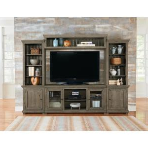 """Progressive Furniture Willow Weathered Gray Complete With Newest Tv Stands With Cable Management For Tvs Up To 55"""" (View 6 of 10)"""