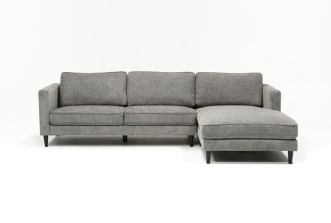 Recent 2pc Crowningshield Contemporary Chaise Sofas Light Gray Intended For Cosmos Grey 2 Piece Sectional With Left Arm Facing Chaise (View 1 of 10)