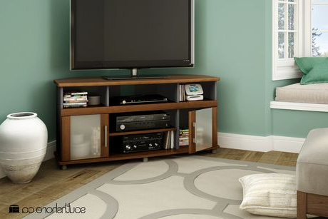 """Recent Caleah Tv Stands For Tvs Up To 50"""" Within South Shore City Life Corner Tv Stand, For Tvs Up To  (View 8 of 10)"""