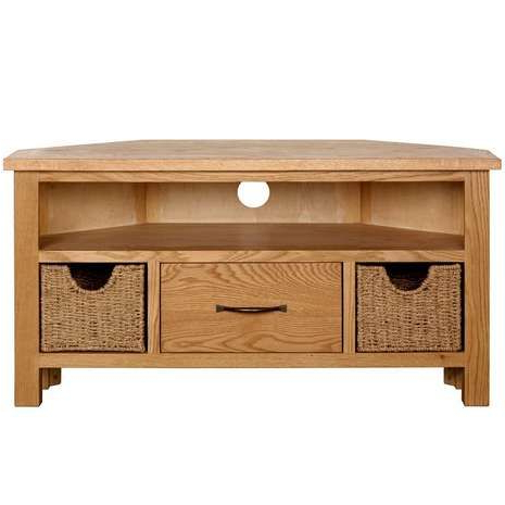 Recent Carbon Tv Unit Stands For Sidmouth Oak Corner Tv Stand (View 8 of 10)
