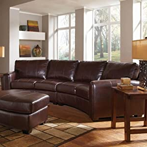 Recent Cornell Bonded Leather Curved Sofa Sectional: Amazon.co (View 9 of 10)