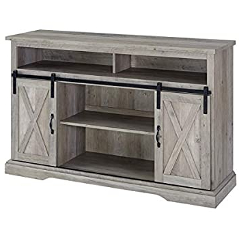 """Recent Jaxpety 58"""" Farmhouse Sliding Barn Door Tv Stands In Rustic Gray With Amazon: Better Homes And Gardens Modern Farmhouse Tv (View 1 of 10)"""