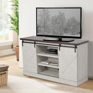 """Recent Modern 2 Glass Door Corner Tv Stands In 65"""" Tv Stand Brown Farmhouse Barn Sliding Door Cabinet (View 5 of 10)"""