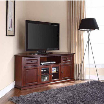 Recent Television Stands Featuring Open Or Covered Storage Regarding Winsome Wood Zena Corner Tv & Media Stands In Espresso Finish (View 5 of 10)