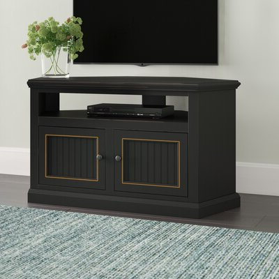 """Red Barrel Studio® Aowyn Corner Tv Stand For Tvs Up To 55 Intended For Best And Newest Baba Tv Stands For Tvs Up To 55"""" (View 2 of 10)"""