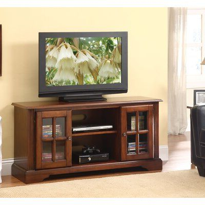 """Red Barrel Studio Sisler Tv Stand, Cherry For Flat Screens Intended For Well Known Allegra Tv Stands For Tvs Up To 50"""" (View 10 of 10)"""