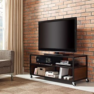 Rfiver Modern Black Floor Tv Stands For Well Known The Ameriwood Home Mason Ridge Mobile 46 Inch Tv Stand (View 4 of 10)