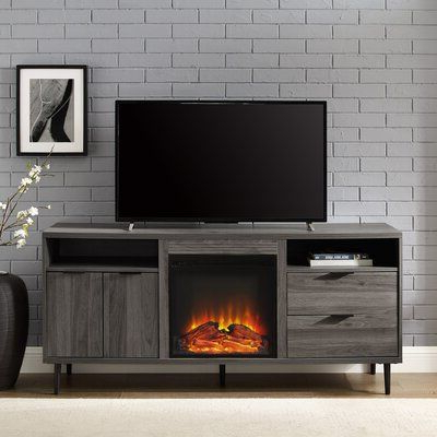 """Rickard Tv Stands For Tvs Up To 65"""" With Fireplace Included Inside Well Known Wrought Studio Eglinton Tv Stand For Tvs Up To 65"""" With (View 7 of 10)"""