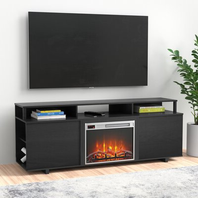 """Rickard Tv Stands For Tvs Up To 65"""" With Fireplace Included Intended For Most Recently Released Zipcode Design™ Wolla Tv Stand For Tvs Up To 65"""" With (View 4 of 10)"""