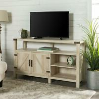 """Robinson Rustic Farmhouse Sliding Barn Door Corner Tv Stands Within Fashionable Manor Park Barn Door Tv Stand For Tvs Up To 65"""", White (View 7 of 10)"""