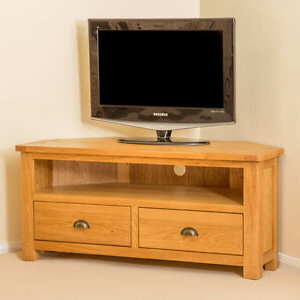 Roseland Oak Corner Tv Cabinet Stand Large Solid Wooden With Latest Richmond Tv Unit Stands (View 10 of 10)
