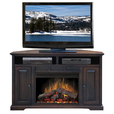"""Rustic Corner 50"""" Solid Wood Tv Stands Gray With Latest Amazon: Legends Furniture Brentwood 56"""" Corner Tv (View 10 of 10)"""