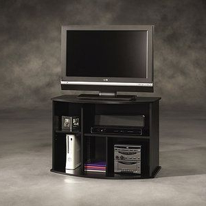 """Sauder Beginnings Black Tv Stand, For Tvs Up To 35""""—65 In Well Known Caleah Tv Stands For Tvs Up To 65"""" (View 10 of 10)"""