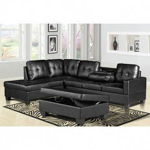 Save Money On Haskett 3 Piece Faux Leather Reversible Regarding Most Recent 3pc Faux Leather Sectional Sofas Brown (View 10 of 10)