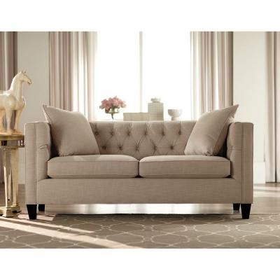 Setoril Modern Sectional Sofa Swith Chaise Woven Linen Pertaining To Most Current Home Decorators Collection Lakewood 85 In (View 8 of 10)