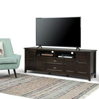 """Shop Abbyson Clarkston Solid Wood 72 Inch Tv Console Intended For Well Known Miconia Solid Wood Tv Stands For Tvs Up To 70"""" (View 10 of 10)"""