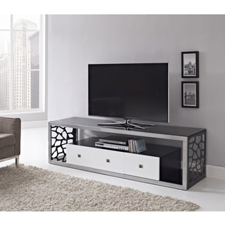 """Shop Black Glass Modern 70 Inch Tv Stand – Free Shipping For Best And Newest Kinsella Tv Stands For Tvs Up To 70"""" (View 3 of 10)"""