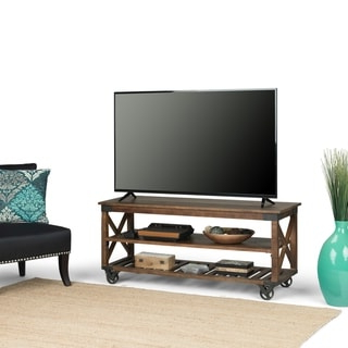 Shop Furniture Of America Town Industrial 60 Inch Oak Intended For Most Recent Canyon Oak Tv Stands (View 2 of 10)