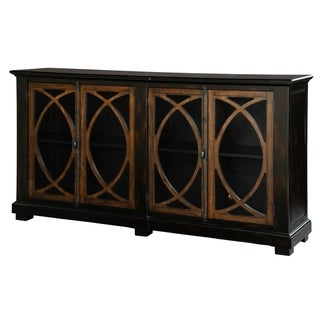 Shop Hekman Furniture Small Circle Lattice Farmhouse Chic Throughout Latest Martin Svensson Home Barn Door Tv Stands In Multiple Finishes (View 9 of 10)