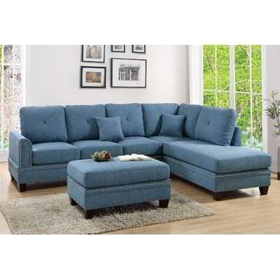 Shop Wayfair For A Zillion Things Home Across All Styles Within Latest 3pc Polyfiber Sectional Sofas With Nail Head Trim Blue/gray (View 3 of 10)