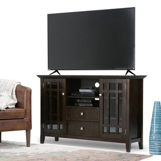 """Shop Wyndenhall Freemont Solid Wood 32 Inch Wide Rustic For Famous Mission Corner Tv Stands For Tvs Up To 38"""" (View 4 of 10)"""