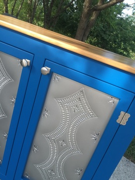 Sideboard Tin Punch Doors – Kountry Kupboards For Well Known Bromley Blue Wide Tv Stands (View 3 of 10)