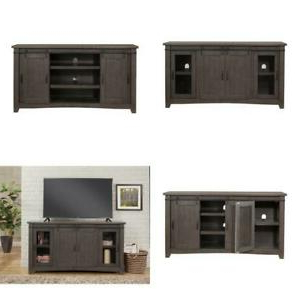 """Sierra Gray Metal Tv Stand Fits Tvs Up To 70 In In Widely Used Ameriwood Home Rhea Tv Stands For Tvs Up To 70"""" In Black Oak (View 4 of 10)"""