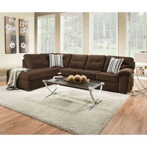 Simmons Upholstery Bernie Godiva Sectional, Brown (fabric Within 2018 2pc Maddox Left Arm Facing Sectional Sofas With Chaise Brown (View 5 of 10)