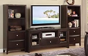 Simple Open Storage Shelf Corner Tv Stands Inside Best And Newest Amazon: Entertainment Center Tv Stand With 2 Open (View 6 of 10)