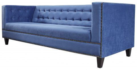 Sofa, Blue Sofa With Regard To Well Known French Seamed Sectional Sofas In Velvet (View 9 of 10)