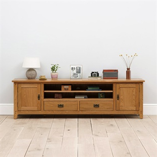 Solid Wood Oak, Pine & Painted Tv Stands & Tv Units – The With Regard To Latest Cotswold Widescreen Tv Unit Stands (View 7 of 10)
