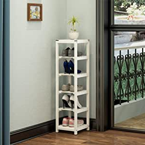 Space Saving Gaming Storage Tv Stands With Most Current Amazon: Xhp Wooden Vertical Shoe Rack 6 Tier Tall (View 4 of 10)