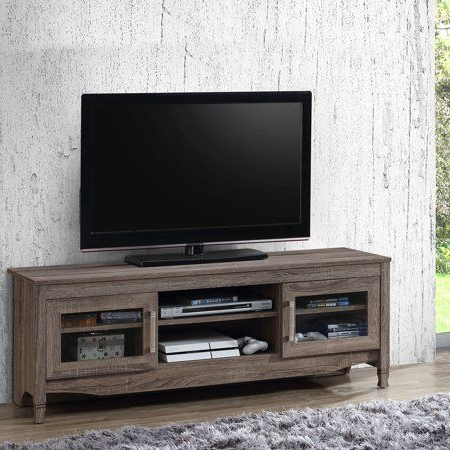 """Techni Mobili 53"""" Driftwood Tv Stand For Tvs Up To 65 Inside Well Known Techni Mobili 53"""" Driftwood Tv Stands In Grey (View 1 of 10)"""