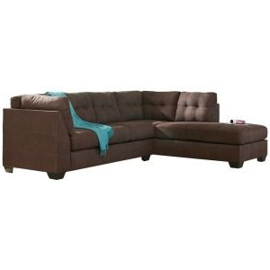 The Regarding 2018 2pc Maddox Right Arm Facing Sectional Sofas With Chaise Brown (View 3 of 10)