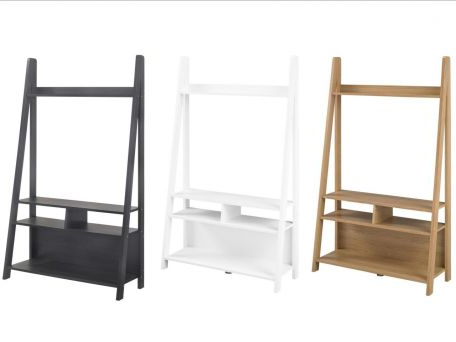 Tiva Ladder Shelving Tv Unit – Oak Or White With Well Known Tiva Ladder Tv Stands (View 8 of 10)