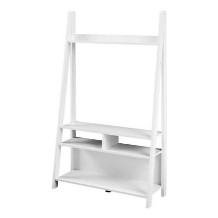Tiva Ladder Tv Stands With Most Current Tiva White Ladder Tv Stand (View 1 of 10)