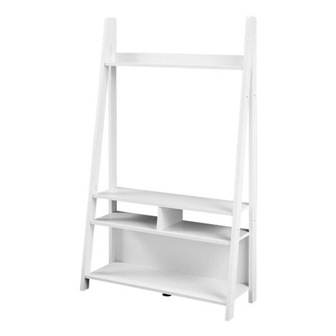 Tiva Ladder Tv Stands Within Recent Lpd Furniture White Tiva Ladder Tv Stand (View 7 of 10)