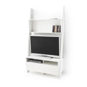 Tiva Oak Ladder Tv Stands With Regard To Well Known Domeno Wall Mounted Ladder Shelf Unit In Solid Oak , Oak (View 10 of 10)