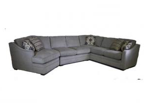 Trendy 3pc French Seamed Sectional Sofas Velvet Black Within The Old Brick Furniture Company F9 Customizable 3pc (View 6 of 10)