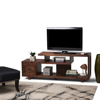 """Trendy Adayah Tv Stands For Tvs Up To 60"""" In Shop Furniture Of America Town Industrial 60 Inch Oak (View 3 of 10)"""
