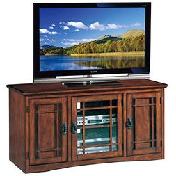 Trendy Astoria Oak Tv Stands For Leick Riley Holliday Mission Tall Tv Stand, 50 Inch, (View 5 of 10)