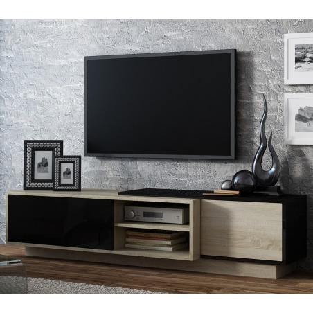 Trendy Bromley Black Wide Tv Stands With Bmf Sigma 1c Tv Stand 180cm Wide Sonoma Oak Wood Effect (View 4 of 10)