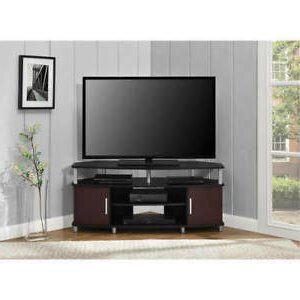 """Trendy Caleah Tv Stands For Tvs Up To 50"""" Within Black/cherry Carson Corner Tv Stand Home Entertainment (View 5 of 10)"""