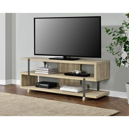 Trendy Dillon Oak Extra Wide Tv Stands With Free Shipping (View 5 of 10)