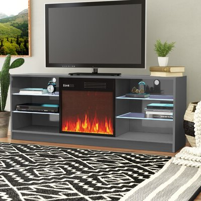 """Trendy Orren Ellis Wrightson Tv Stand For Tvs Up To 65"""" With Inside Rickard Tv Stands For Tvs Up To 65"""" With Fireplace Included (View 6 of 10)"""