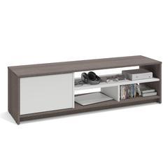 "Trendy Stuart Geometric Corner Fit Glass Door Tv Stands Pertaining To 48"" Corner Fireplace Tv Stand – Espresso (View 5 of 10)"