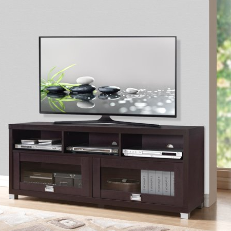 """Trendy Techni Mobili 58"""" Durbin Tv Stands In Espresso Or Grey Wood Pertaining To Techni Mobili 58"""" Durbin Tv Stand For Tvs Up To  (View 1 of 10)"""