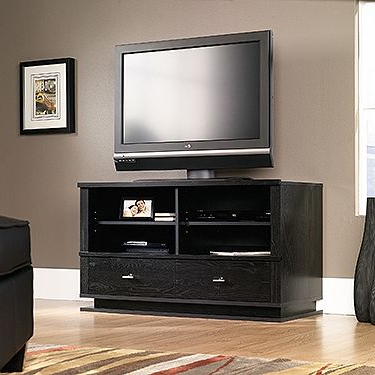 Trendy Two Adjustable Shelves Hold Audio/video Equipment (View 1 of 10)
