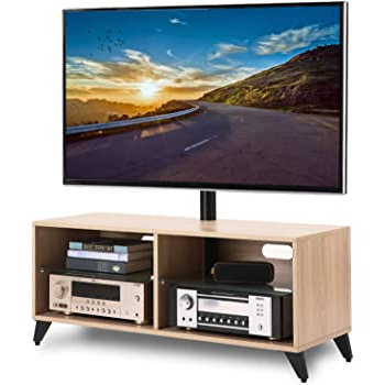 """Trendy Vasari Corner Flat Panel Tv Stands For Tvs Up To 48"""" Black Pertaining To Rfiver Tv Unit Cabinet 110cm Media Center Corner Stand For (View 4 of 10)"""