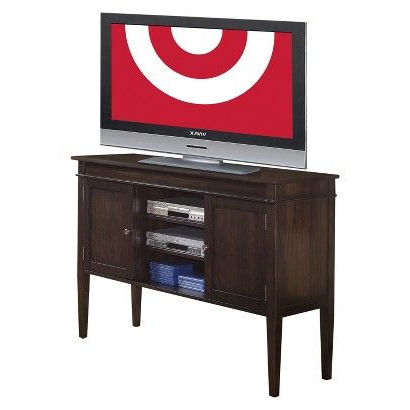 Tribeca Oak Tv Media Stand Within Most Recent Tall Sterling Solid Wood Tv Stand For Tvs Up To  (View 7 of 10)